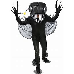 Angler Fish Costume For Adults | Adult | Mens | Gray/Yellow | XL | FUN Costumes
