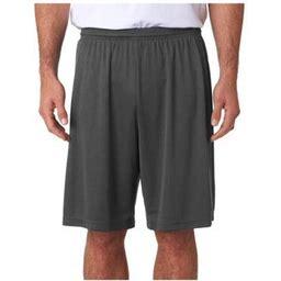A4 Men's 9 Inch Moisture Wicking Performance Interlock Short, Style N5283, Size: XL, Gray