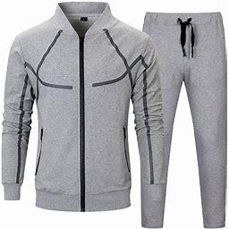 MANTORS Men's Full Zip Tracksuit Set Casual 2 Pieces Outfits Jogging Athletic Sweat Suits