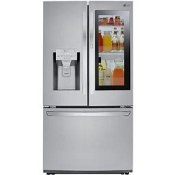 LG - 26 Cu. Ft. French Instaview Door-In-Door Refrigerator With Wifi And Dual Ice Maker - Stainless Steel