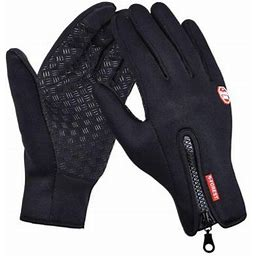 Winter Gloves Men Women Touchscreen Running Gloves Cold Weather Warm Gloves Driving Cycling Texting Workout Training, Black L, Women's, Size: Large