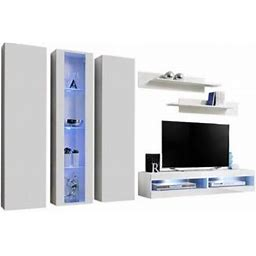 Fly C4 34Tv Wall Mounted Floating Modern Entertainment Center, Size: 11.5, White