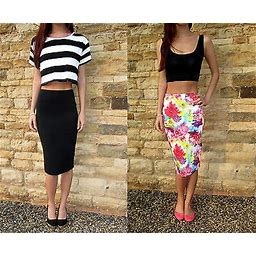Extra Long Tall Jersey Tube Skirt Midi Length. Plain Or Print Tall