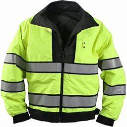 Rothco Reversible Hi-Visibility Uniform Jacket - 8720 - Medium, Adult Unisex, Black