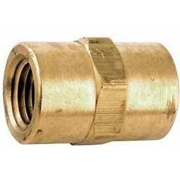 Zoro Select 706303-04 Coupling, Low Lead Brass, 1000 Psi