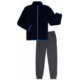 Swiss Alps Boys Sherpa Full Zip Jacket & Jogger Sweatpants, 2-Piece Outfit Set, Sizes 4-12