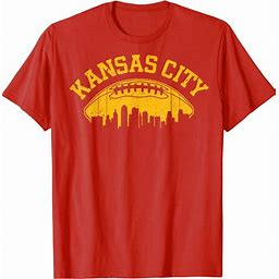 Kansas City Football Vintage KC Skyline Missouri Retro T Shirt