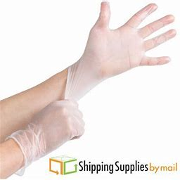Clear Vinyl Gloves Powder-Free, Latex Free, Disposable X-Large 4.5 Mil 100 Count, Adult Unisex, Size: One Size, Blue