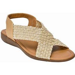 Comfortview Women's Wide Width The Celestia Sling Sandal Sandal, Size: 11 WW, Gold