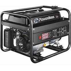 Powerboss Portable Generator, Conventional, Generator Fuel Type Gasoline, Generator Rated Watts 3,500 W Model: 30755