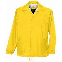 Tri-Mountain Men's Big And Tall Snap Up Shell Jacket, Size: 5XL, Yellow