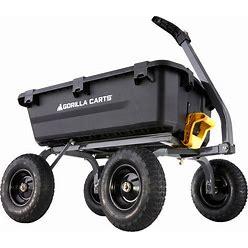 Gorilla Carts 7-Cu Ft Poly Yard Cart   GCG-7