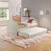 Sleep Sync Boorman Linen Upholstered Twin Daybed With Trundle Frame