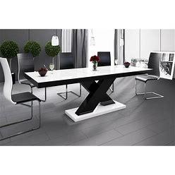 XENA Dining Set - White/Black-Black/White