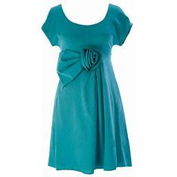 Armani Collezioni Women's Above The Knee Shift Dress Turquoise, Size: EU 42, Blue