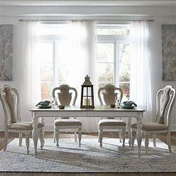 Liberty Furniture - Magnolia Manor 5 Piece Rectangular Table Set - Distressed White Furniture - 244-DR-5RLS