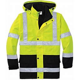 Cornerstone Men's Waterproof Reflective Parka Jacket, Size: Large, Yellow