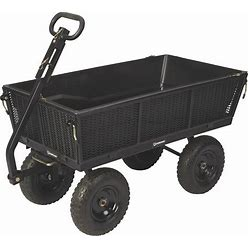 Strongway Steel Dump Cart With Removable Liner - 1,200-Lb. Capacity, 50Inch L X 24Inch W Overall Size