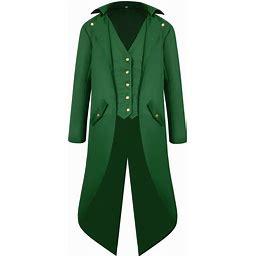 Men's Victorian Tailcoat Steampunk Jacket Showman Costume For Halloween Renaissance Festival St. Patrick