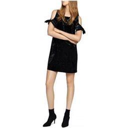 Sanctuary Clothing Womens Velvet Cold-Shoulder Shift Dress, Women's, Size: XS, Black