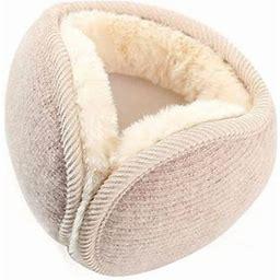Men Women Winter Earmuffs Fur Warm Solid Women Ear Protect Cute Faux Soft Fluffy Earcap, Women's, Size: One Size, Beige