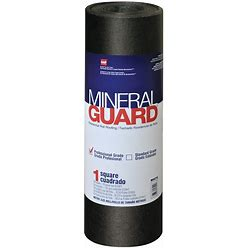 GAF Mineral Guard 3.28-Ft W X 32.58-Ft L 100-Sq Ft Charcoal Roll Roofing In Black | 1002180