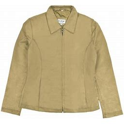 Victory Sportswear Victory Outfitters Ladies' Genuine Leather Zip Up Lined Jacket - Camel - XL, Men's, Beige