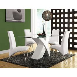 Acme Furniture Pervis White 5Pc Dining Room Set