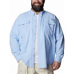 Columbia Men's Pfg Big & Tall Bahama Ii Long Sleeve Shirt - Sail