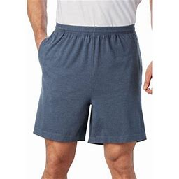 Kingsize Men's Big & Tall Lightweight Jersey Shorts, Size: Tall - 6XL, Blue