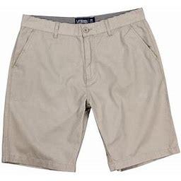 Urban Boundaries Men's Flat Front Chino Shorts (Light Khaki, Size 38), Gray