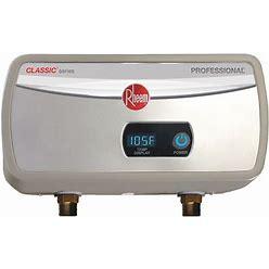 Rheem 208/240V Undersink Electric Tankless Water Heater, 5,500 W Watts, 29 A Amps - Water Heaters Model: RTEX-06