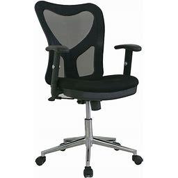 Techni Mobili Ergonomic Mesh Office Chair, Black, Furniture