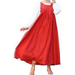 Zanzea Women Sleeveless Muslim Kaftan Abaya Slip A-LIne Elegant Dubai Islam Long Maxi Shirt Dress, Women's, Size: Medium, Red