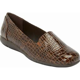 Extra Wide Width Women's The Leisa Flat By Comfortview In Brown (8 XW)