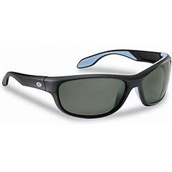 Flying Fisherman Cayo Polarized Sunglasses With Acutint UV Blocker For Fishing And Outdoor Sports, Matte Black Frames/Smoke Lenses, Adult Unisex, Size
