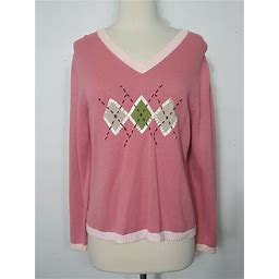 Christopher Banks Sweater Crew Neck Pink Womens Size Medium