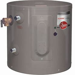 Rheem Residential Mini Tank Water Heater, 6.0 Gal Tank Capacity, 120V, 2,000 W Total Watts Model: PROE6 1 RH POU