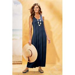 Soft Surroundings Talls Santiago Dress In Navy Blazer Size TS (6-8)