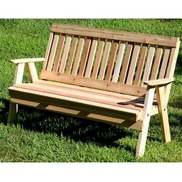 Creekvine Designs Cedar Benches Garden Bench, Wood In Cedar Stain/Sealer, Size 4' | Wayfair