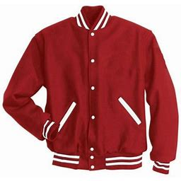 Holloway Letterman Jacket 224182, Men's, Size: Medium, White