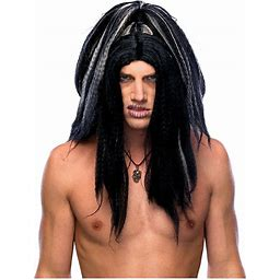 Voodoo Witch Doctor Wig Mens Headhunter Savage Cannibal Costume
