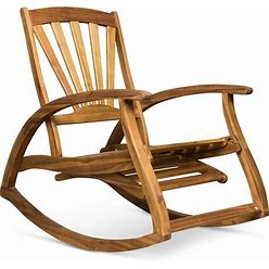Sunview Outdoor Acacia Rocking Chair With Footrest By Christopher Knight Home - Teak Finish
