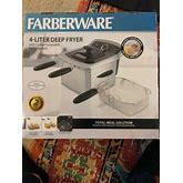 Farberware 4L Dual Deep Fryer, Stainless Steel