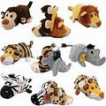 Ethical Pet Flip A Zoo Wildlife Squeaky Plush Dog Toy, 8-In
