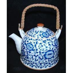Blue Teapot W/ Flower Pictures