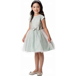 Sweet Kids Sage Floral Jacquard Multi Tone Tulle Easter Dress Big Girls, Girl's, Size: 12