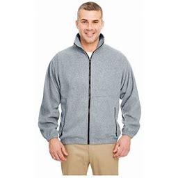 Ultraclub Men's Iceberg Fleece Full-Zip Jacket, Style 8485, Size: 2XL, Gray