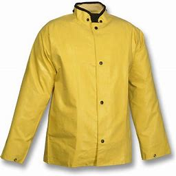 Tingley Magnaprene J12207.md Neoprene/Nylon Yellow Storm Fly Front Stitched & Taped Seams Jacket With Hood Snaps, Medium, Yellow, Adult Unisex, Size: