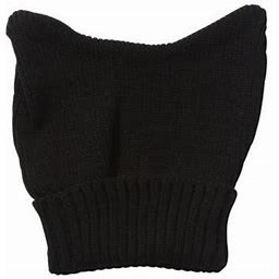 Topheadwear Cute Adventure Ears Rib Knit Beanie, Adult Unisex, Size: One Size, Black